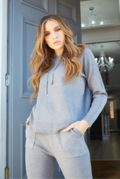 Ava Grey Hooded Tracksuit