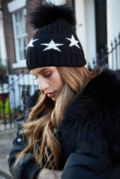 Black STAR Bobble Hat