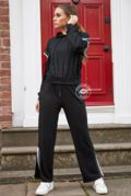 Ceila Black Wide Leg Tracksuit