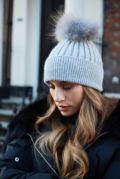 Grey With Grey SINGLE Bobble Hat