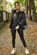 Lucie Black Down Coat - Natural Fur