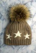 Mocha STAR Bobble Hat