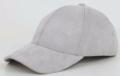 Pale Grey Suede Cap