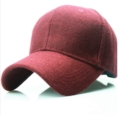 Wine Red Wool Baseball Cap