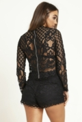 Black Lace High Neck Set