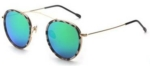 Mykonos Green Small Round Sunglasses