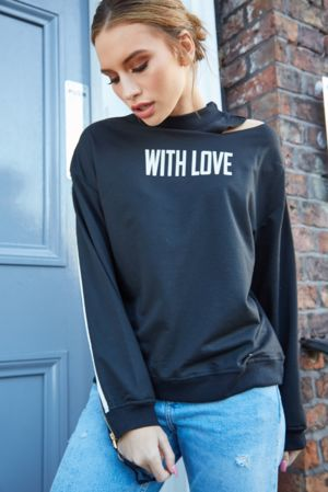 Black With Love Jumper