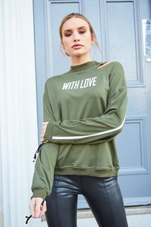 Khaki With Love Jumper