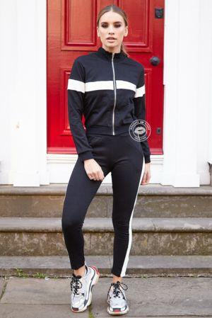 Bella Black & White Stripe Set