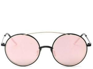 Amalfi Coast Rose Gold Round Sunglasses