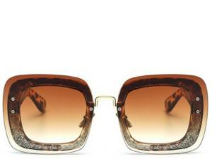 Milan Leopard Square Sunglasses