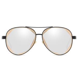 Fiji Silver and Gold Oversized Aviator
