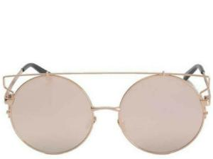 King City Round Bar Rose Gold Sunglasses