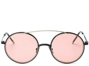 Amalfi Coast Tinted Pink Round Sunglasses