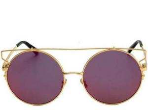 King City Round Bar Red Sunglasses