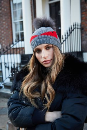 Grey Monster Bobble Hat