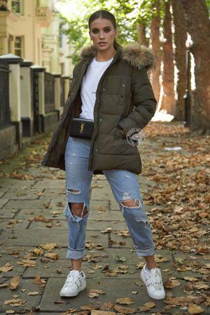 Juliette Khaki Belted Coat