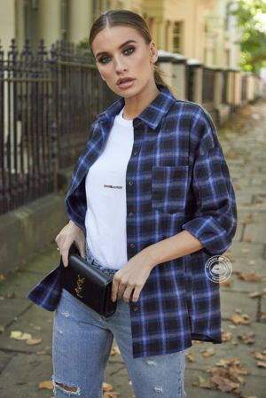 Blue Check Shirt With Pocket