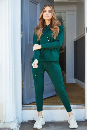 Ava Green Hooded Tracksuit