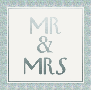 Mr and Mrs Greeting Card 16cm