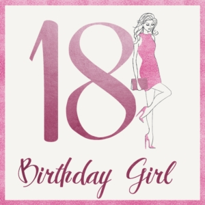 Age 18 Birthday Greeting Card 16cm