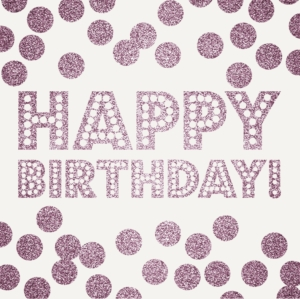 Happy Birthday Dots Greeting Card 16cm