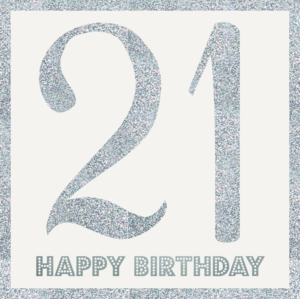 Age 21 Birthday Greeting Card 21cm