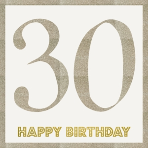 Age 30 Birthday Greeting Card 21cm