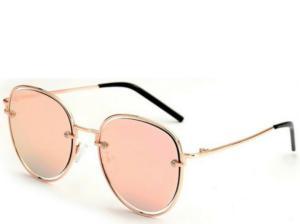 Formentera Rose Gold Round Sunglasses