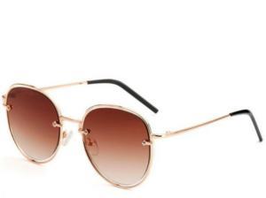 Formentera Brown Round Sunglasses