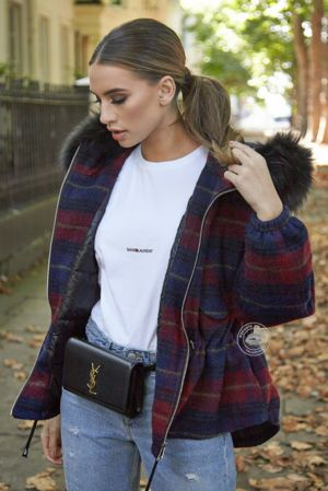 Bridget Tartan Oversized Coat