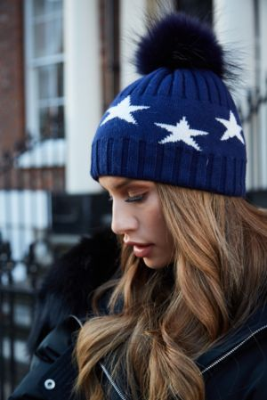 Navy STAR Bobble Hat