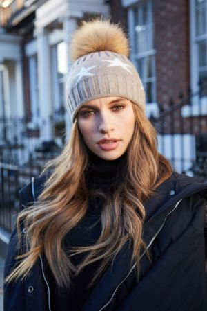 Mocha STAR Bobble Hat