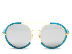 Sicily Oversized Silver Round Sunglasses