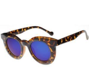Barcelona Blue Mirrored Cats Eye Sunglasses