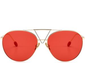Key West Red Tint Oversized Aviators