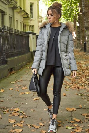 Juliette Light Grey Belted Coat