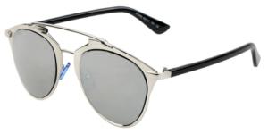 **JEMM** Beachwear Retro Round Silver Sunglasses
