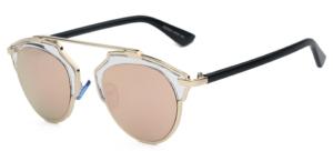Bali Retro Round Black Sunglasses