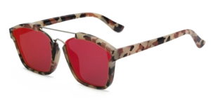 **JEMM** Greece Hot Pink Flat Sunglasses