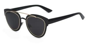 Black & Gold Pilot Sunglasses
