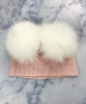 Baby Pink DOUBLE Bobble Hat