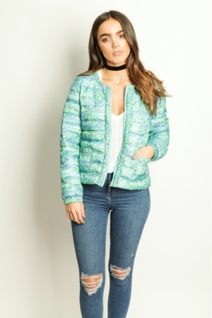 Bright Floral Lightweight Down Coat