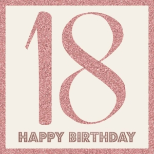 Age 18 Birthday Greeting Card 21cm