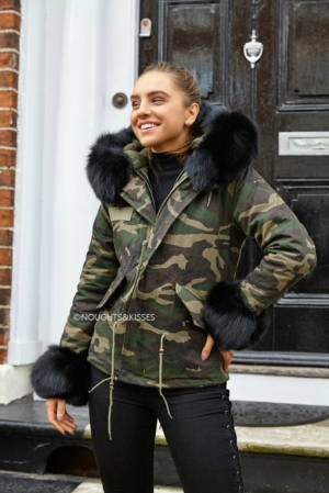 *LIMITED EDITION* Camo Parka With Giant Black Fur