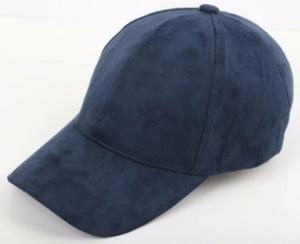 Navy Suede Cap