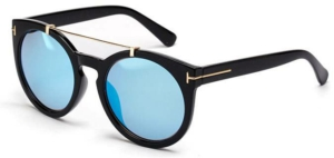 Maldives Blue Chunky Round Sunglasses