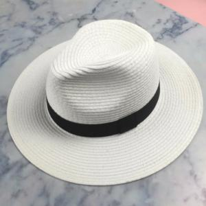 White Straw Stetson Hat.