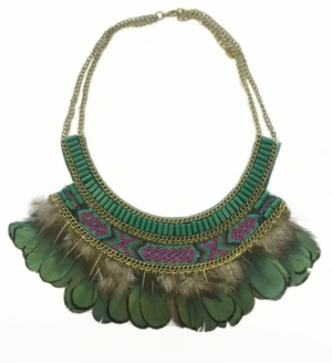 Khaki Tribal Necklace