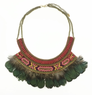 Burgundy Tribal Necklace